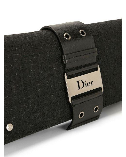 Dior プレオウンド ストリートシック トロッター ショルダーバッグ Black