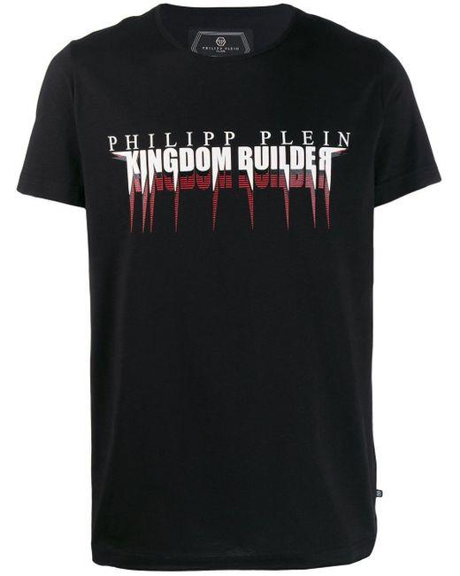 メンズ Philipp Plein Platinum Cut Statement Tシャツ Black