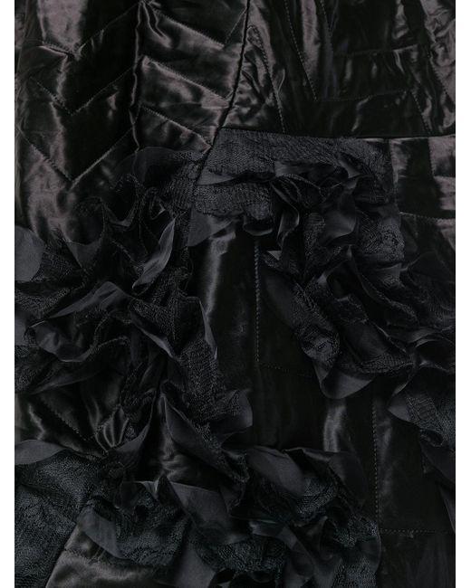 Comme des Garçons キルティング アシンメトリー ドレス Black
