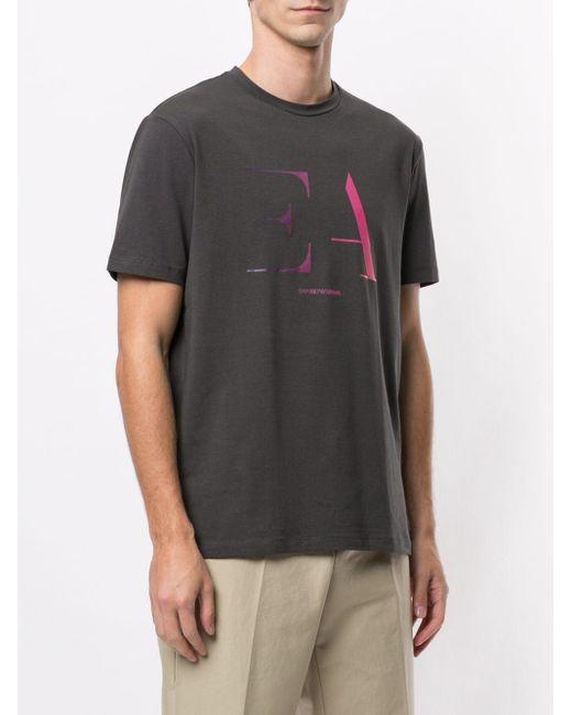 メンズ Emporio Armani ロゴ Tシャツ Gray