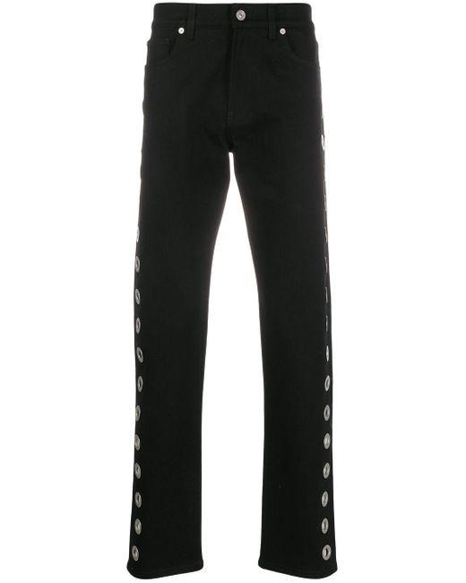 メンズ Versace ストレートジーンズ Black
