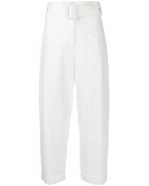 PROENZA SCHOULER WHITE LABEL ベルテッド クロップドパンツ White