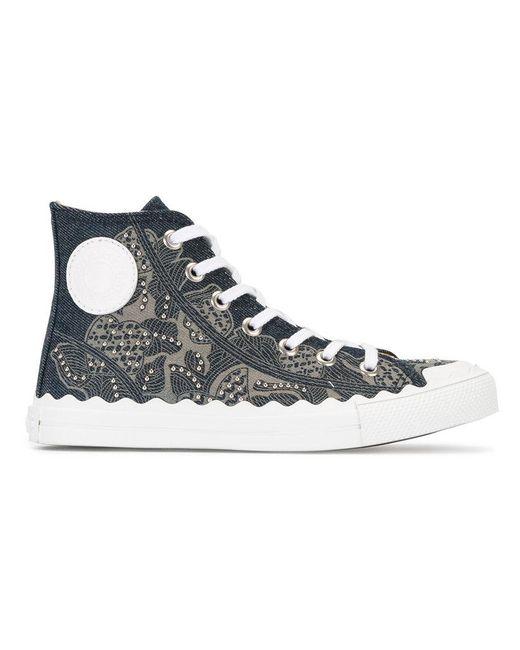 Chloé - Blue Hi-top Sneakers - Lyst
