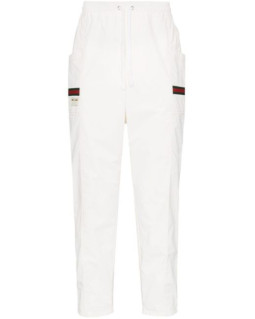 メンズ Gucci ロゴ トラックパンツ White