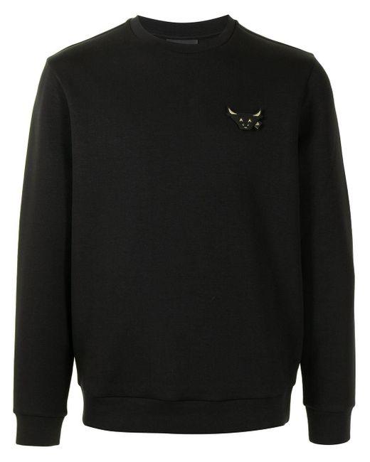 メンズ Emporio Armani Bull パッチ スウェットシャツ Black