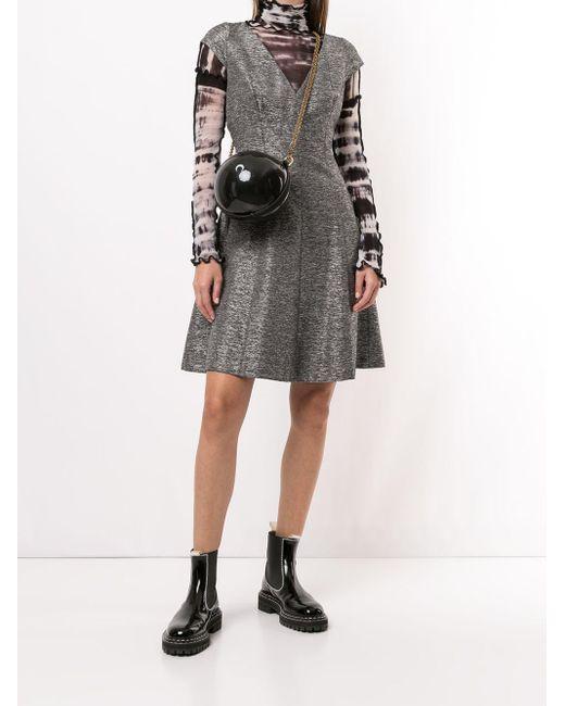 Dior プレオウンド フレアドレス Gray