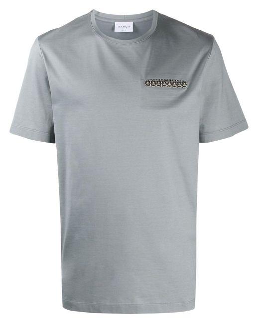 メンズ Ferragamo ガンチーニトリム Tシャツ Gray
