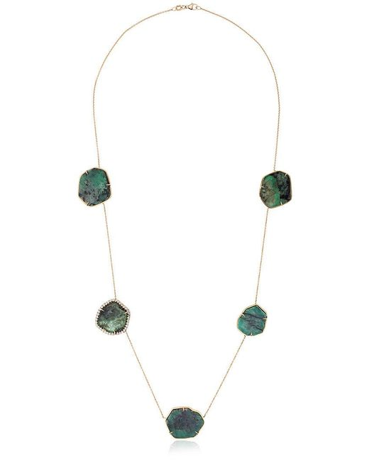 Kimberly Mcdonald | Metallic Sliced Emerald Necklace | Lyst