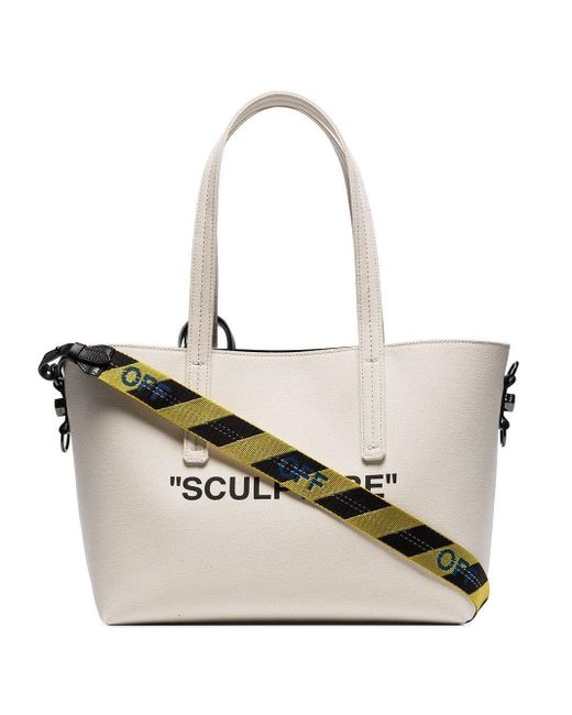 Off-White c/o Virgil Abloh Natural Beige Sculpture Canvas Tote