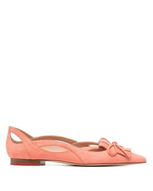 Scarosso リボン フラットシューズ Pink