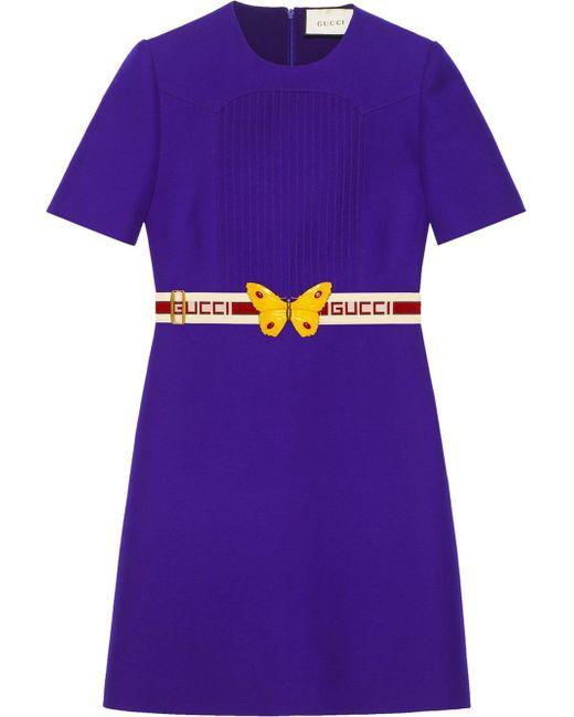 Gucci ベルテッドドレス Purple