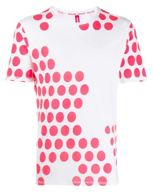メンズ Raeburn ポルカドット Tシャツ White