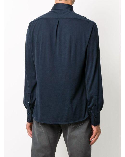 Рубашка Lightweight Slim-fit Brunello Cucinelli для него, цвет: Blue