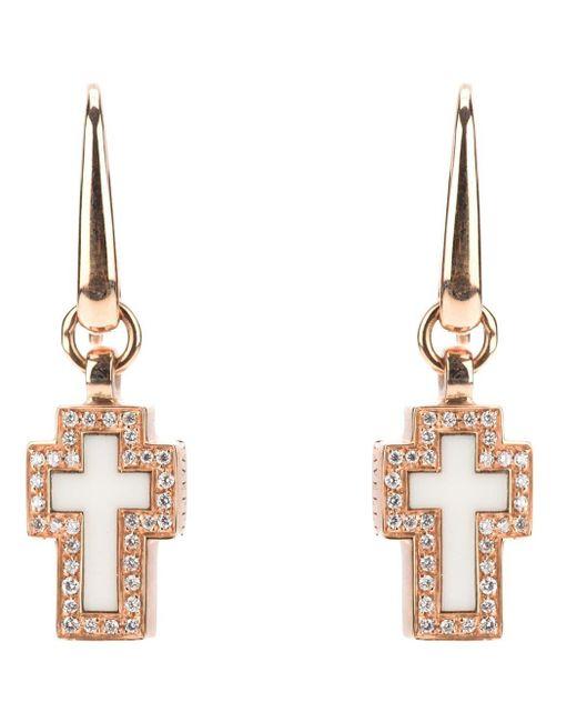Gavello Metallic Cross Diamond Earrings