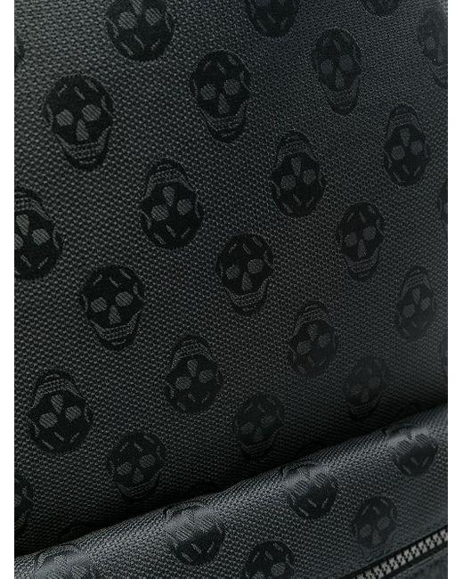 Рюкзак С Круговой Молнией И Узором Skull Alexander McQueen для него, цвет: Black