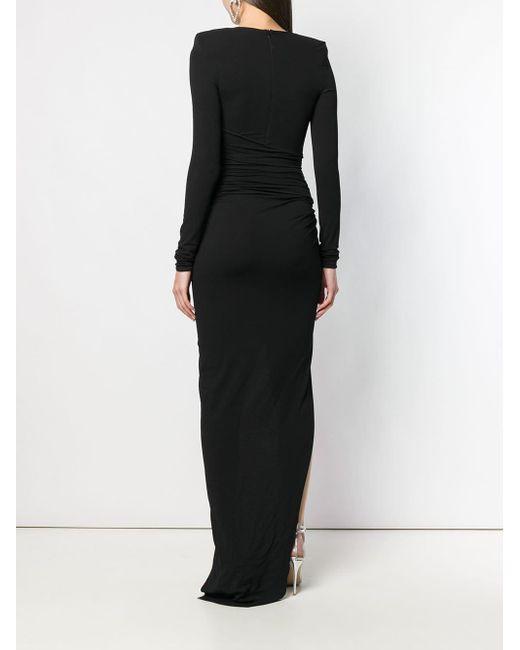 Alexandre Vauthier ディープ Vネック ドレス Black