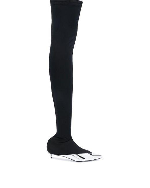Givenchy ニーハイブーツ Black