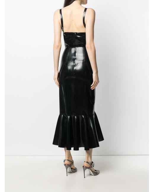 Платье Без Рукавов С Баской Saint Laurent, цвет: Black