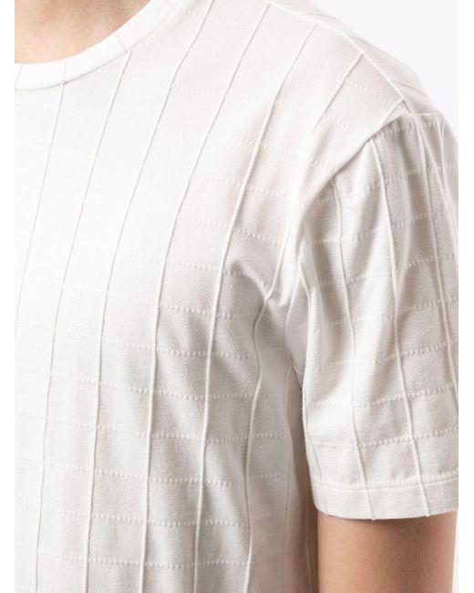 メンズ Giorgio Armani テクスチャード Tシャツ White