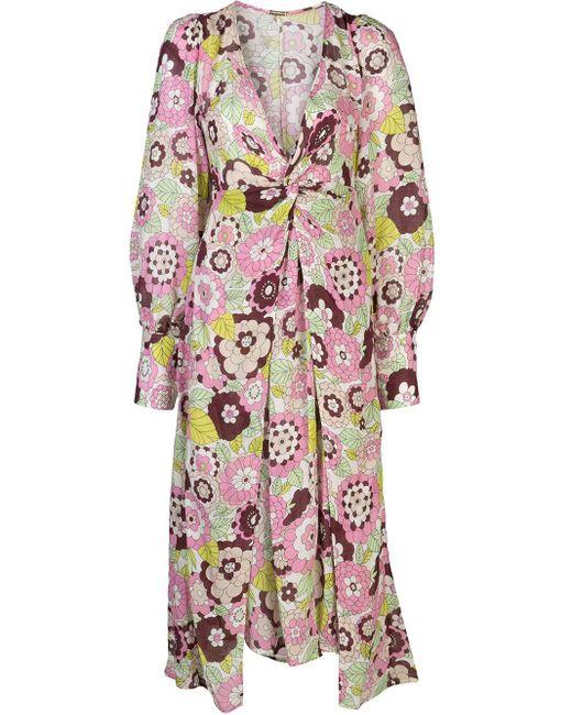 Dodo Bar Or フローラル ドレス Pink