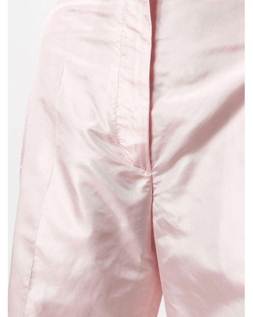 Prada Pink Taillenhose in Satinoptik