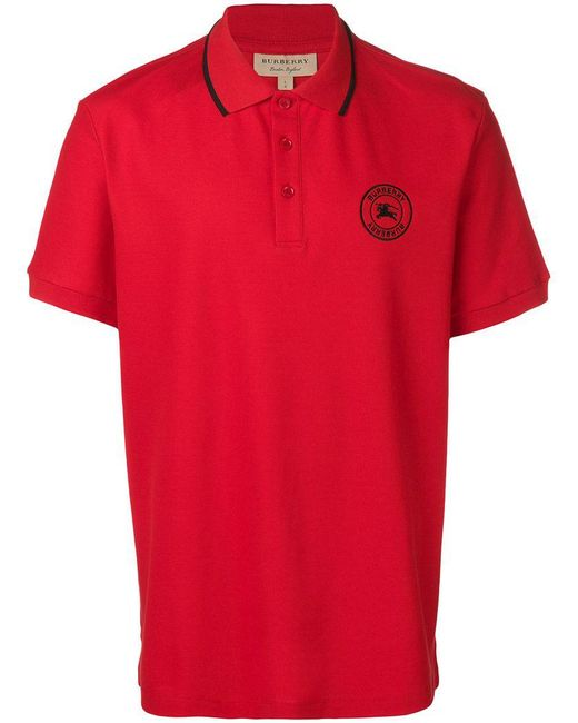 672b085f8 Burberry - Red Classic Polo Shirt for Men - Lyst ...