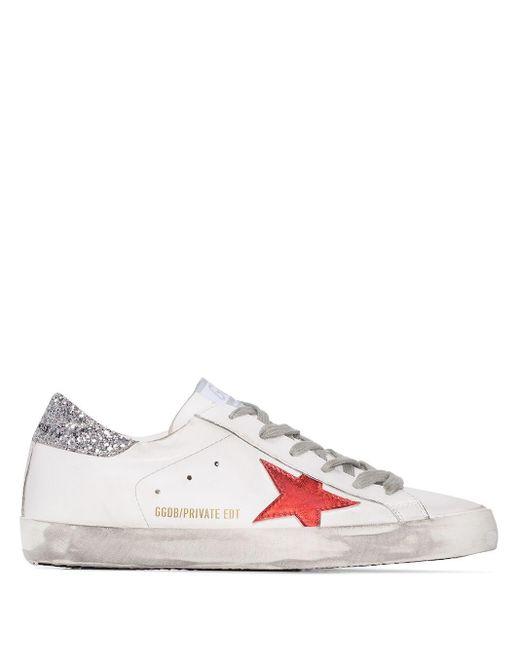 Кеды Superstar С Блестками Golden Goose Deluxe Brand, цвет: White