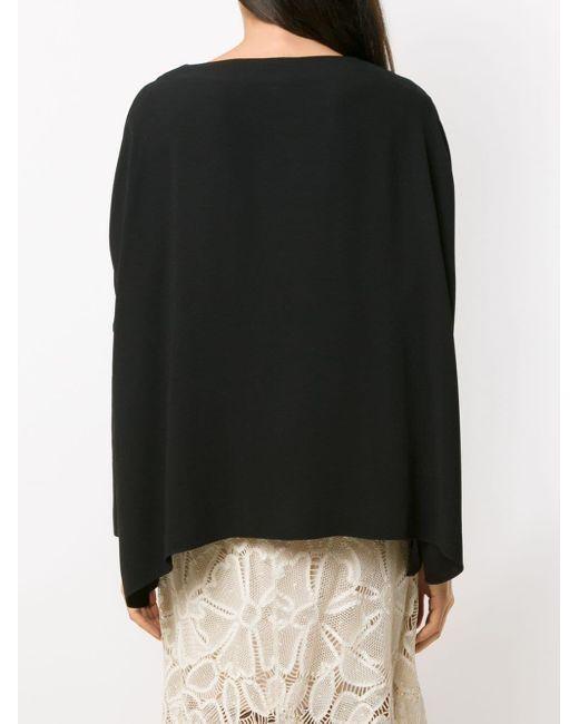 Blusa Kimora con encaje Martha Medeiros de color Black