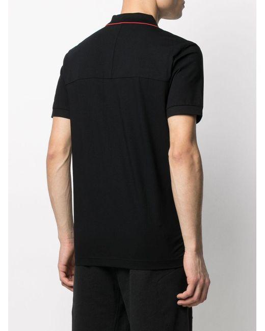 BOSS by Hugo Boss Poloshirt mit Reißverschlusstasche in Black für Herren