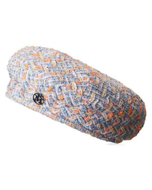 Maison Michel Flore ベレー帽 Blue
