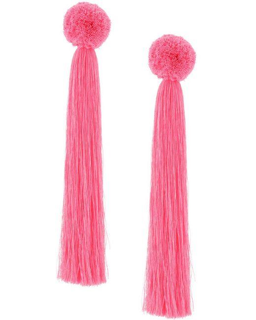 Yuliya Magdych - Pink Oversized Tassel Earrings - Lyst
