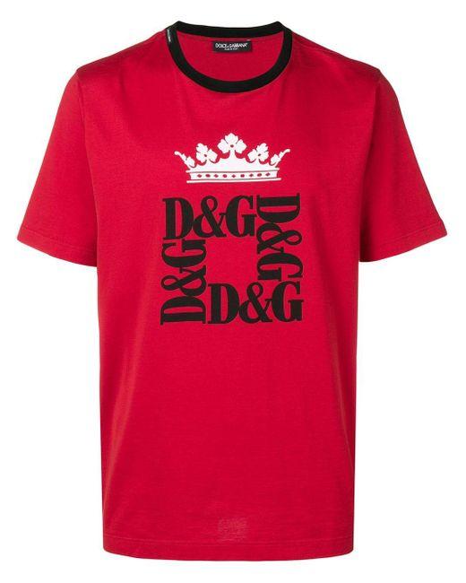 メンズ Dolce & Gabbana ロゴ Tシャツ Red