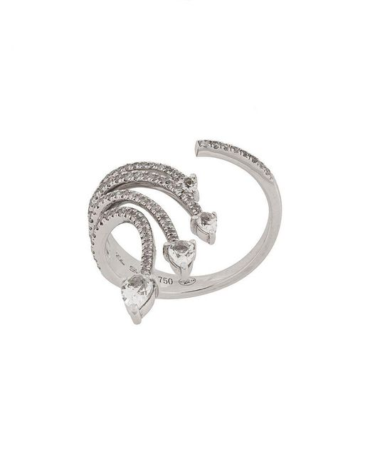 Elise Dray - Metallic 18kt White Gold And Diamond Ring - Lyst
