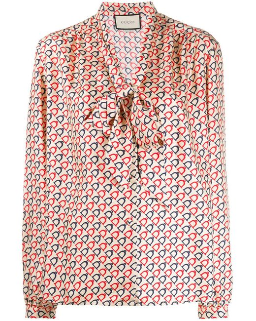 Gucci Multicolor Silk Stirrup Shirt