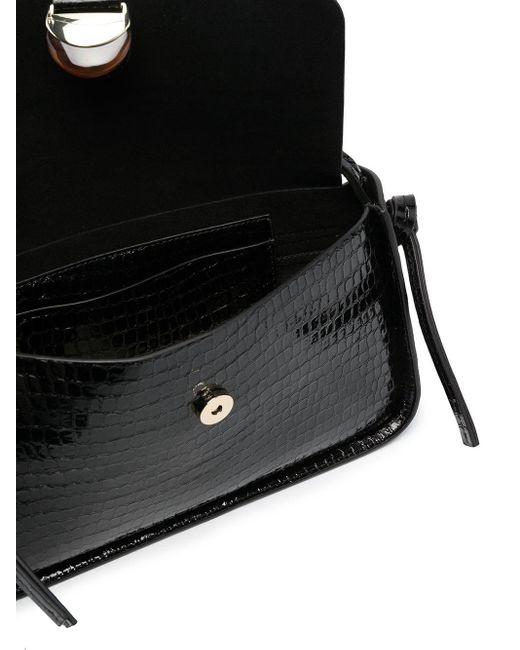 Loeffler Randall Maggie クロコダイルパターン バゲットバッグ Black