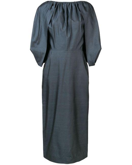 Gabriela Hearst Short-sleeve Midi Dress Black