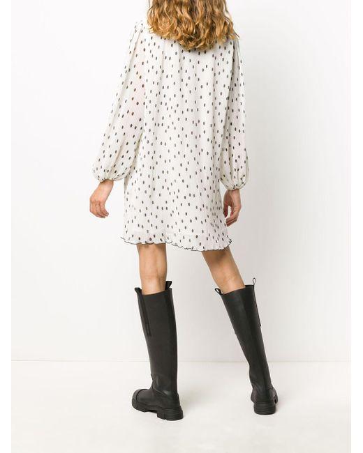 Ganni ポルカドット ドレス White
