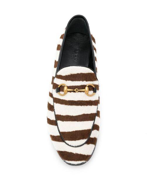 Лоферы Jordaan С Зебровым Узором Gucci, цвет: Brown