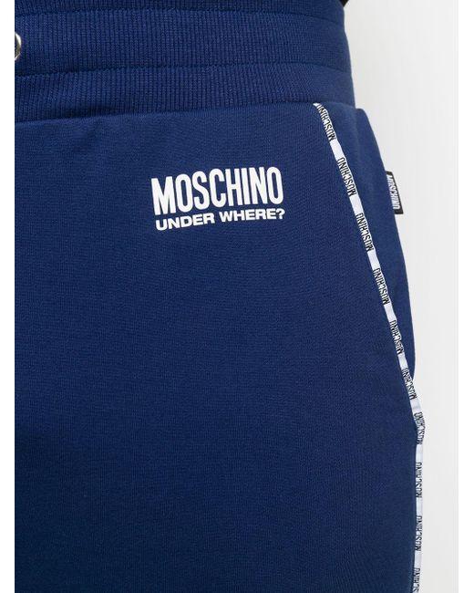 メンズ Moschino Under Where? トラックパンツ Blue