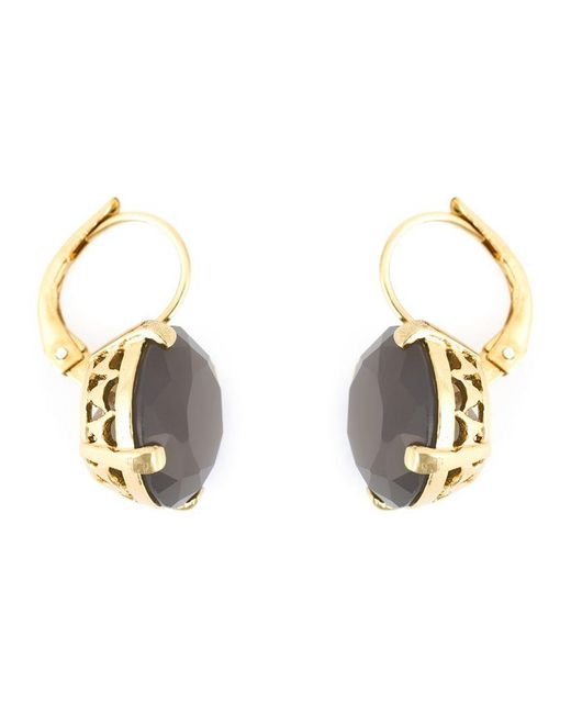Wouters & Hendrix - Metallic Grey Agate Earrings - Lyst