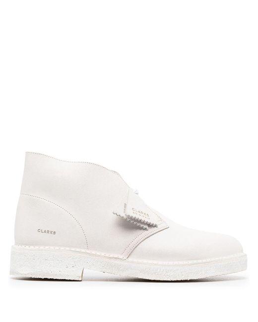 Clarks Desert-Boots mit Gummisohle in White für Herren