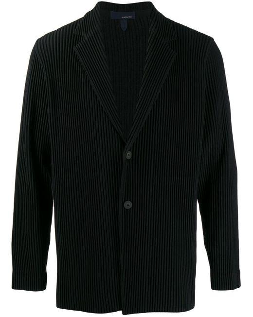メンズ Lardini リブ シングルジャケット Black