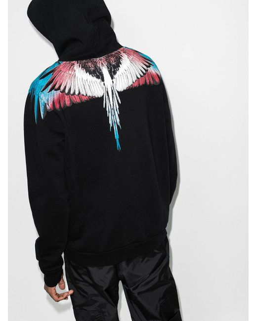 メンズ Marcelo Burlon Wings パーカー Black