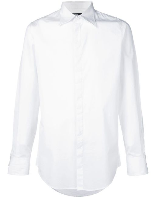 DSquared² White Classic Collared Shirt for men