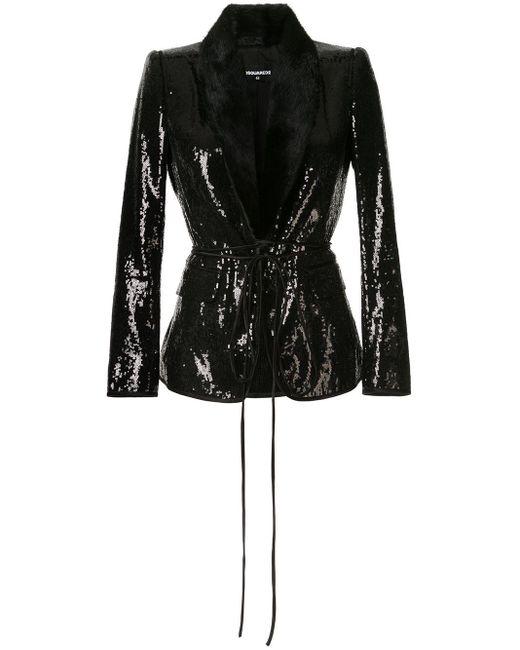 DSquared² スパンコール ジャケット Black