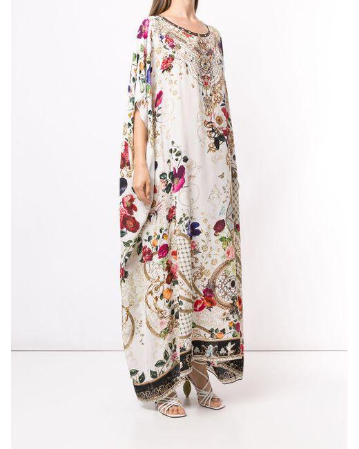 Camilla プリント カフタンドレス Multicolor