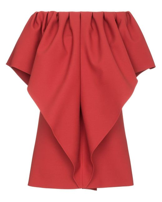 Valentino ドレープ ドレス Red