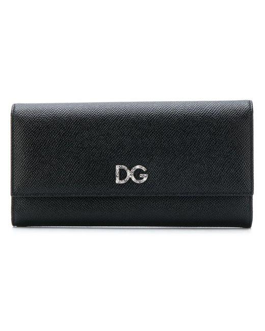 Dolce & Gabbana フラップ長財布 Black