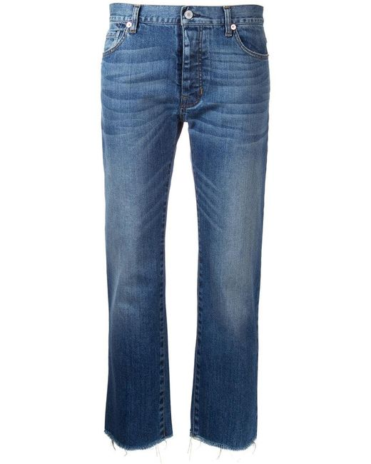 Nili Lotan - Blue Cropped Jeans - Lyst