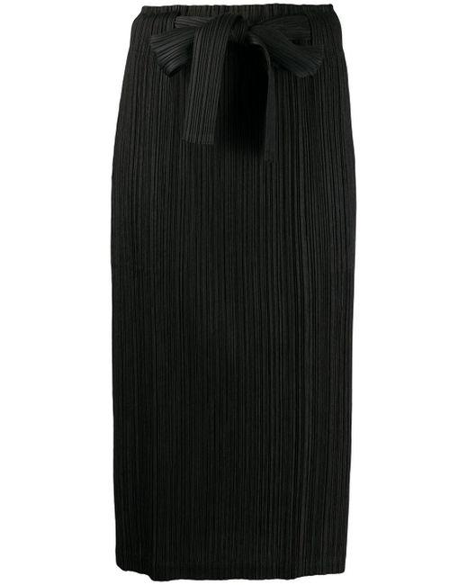 Pleats Please Issey Miyake マイクロプリーツ スカート Black